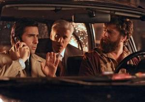 Jason Schwartzman as Jonathan Ames, Ted Danson as George Christopher and Zach Galifianakis as Ray Hueston in Bored To Death
