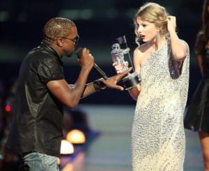 Kanye West and Taylor Swift at the MTV Video Music Awards 2009