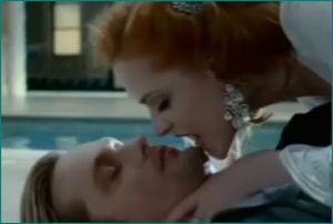 Alexander Skarsgard as Eric Northman and Evan Rachel Wood as Queen Sophie in True Blood
