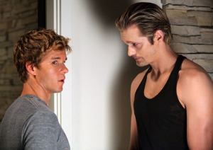 Ryan Kwanten and Alexander Skarsgard in True Blood